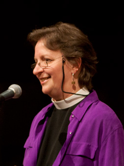 The Rev. Pamela L. Werntz speaking at an event
