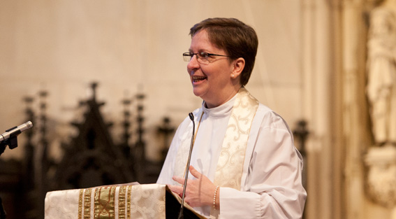 The Rev. Pamela L. Werntz preaching